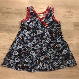 Hanna Andersson Blue Floral Girls Dress - Size 2